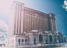 Michigan centralstation Detroit Royaltyfria Bilder