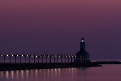 Michigan City East Pierhead Light Stock Image