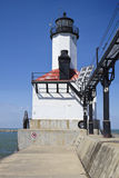 Michigan City Lighthouse. Indiana, USA stock image