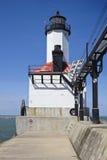 Michigan City Lighthouse stock image