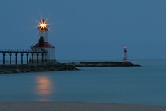 Michigan City IN Lighthouse Royalty Free Stock Photo