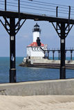 Michigan City Lighthouse. In Indiana, USA, North America stock images
