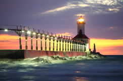 Michigan City Lighthouse, Michigan City, Indiana royalty free stock photography