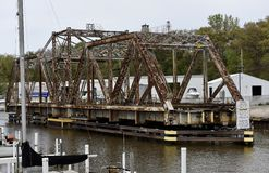 Michigan City Swing Bridge royalty free stock photo