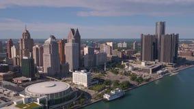 Michigan Detroit julio de 2017 aéreo Sunny Day 4K inspira 2 metrajes