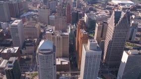 Michigan Detroit julio de 2017 aéreo Sunny Day 4K inspira 2 almacen de metraje de vídeo