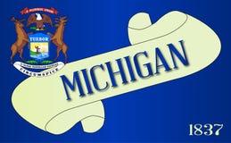 Michigan flaga ślimacznica royalty ilustracja