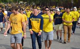 Michigan Football fans Stock Photos