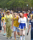 Michigan Football fans Royalty Free Stock Image