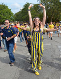 Michigan Football fans Royalty Free Stock Photography