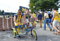Michigan Football fans Stock Images