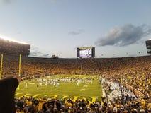 Michigan-Fußball-Rivalität lizenzfreie stockfotos