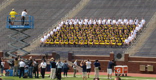 Michigan-Fußballteamfoto Lizenzfreies Stockbild