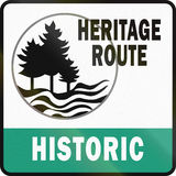 Michigan Historic Heritage Route Stock Photography
