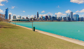 Michigan lake in Chicago City, illinios, USA Royalty Free Stock Images