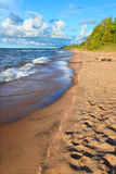 Michigan Lake Superior Beach Stock Photo