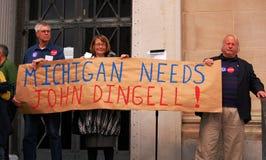Michigan needs John Dingell sign Stock Images