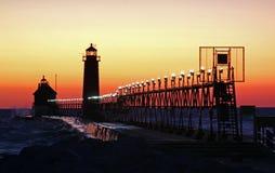 Michigan Pier Royalty Free Stock Photos