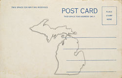Michigan Postcard Royalty Free Stock Photography