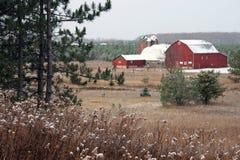 Michigan Red Barn Royalty Free Stock Photo