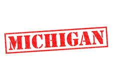 MICHIGAN. Rubber Stamp over a white background Royalty Free Stock Images