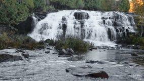 Michigan`s Bond Falls Loop. Loop features Bond Falls, a very beautiful waterfall in the western Upper Peninsula of Michigan stock footage