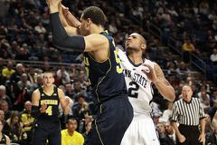 Michigan's Michigan's Jordan Morgan #52 Royalty Free Stock Photos