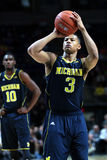 Michigan's Trey Burke. Attempts a free throw Stock Photography