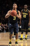 Michigan's Trey Burke. Shoots a free throw gainst Penn State Royalty Free Stock Photo