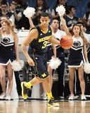 Michigan's #3 Trey Burke. Signals the play against Penn State Royalty Free Stock Images