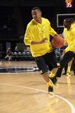Michigan's #3 Trey Burke. Warms up Royalty Free Stock Image