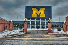 Michigan Stadium. In Ann Arbor Michigan.  This is the home of the Michigan Wolverines Stock Photography