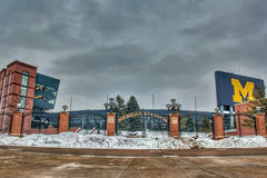 Michigan Stadium. In Ann Arbor Michigan.  This is the home of the Michigan Wolverines Royalty Free Stock Photo