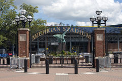 Michigan Stadium - the Big House Stock Photo
