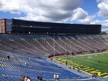 Michigan Stadium. University Of Michigan Football Gamen Stock Image