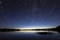 Michigan Star Trails Royalty Free Stock Image