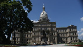 Michigan State Capitol Building. The state capitol building in Lansing, Michigan stock image