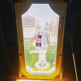 Michigan State Capitol. Michigan State, flag, america stock photo