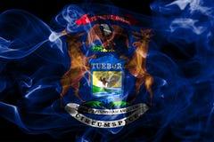 Michigan state smoke flag, United States Of America.  royalty free stock photography