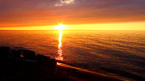 Michigan-Strand-Sonnenuntergang stock footage