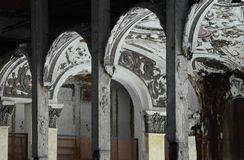 Michigan teater i Detroit Arkivbild
