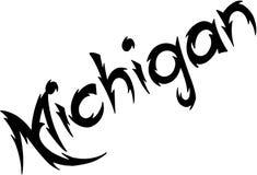 Michigan text sign illustration Stock Image