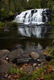 Michigan Upper Peninsula Waterfall In Autumn Stock Photos