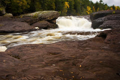 Michigan Upper Peninsula Waterfall In Autumn Royalty Free Stock Photo