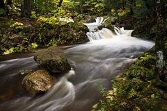 Free Michigan Upper Peninsula Waterfall In Autumn Royalty Free Stock Images - 11541489