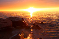 Michigan Vacation Beach Sunset Royalty Free Stock Image