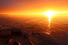 Michigan Vacation Beach Sunset Stock Photos