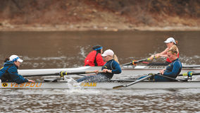 Michigan vs Louisville - Women's Rowing Royalty Free Stock Images