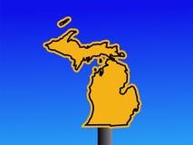 Michigan warning sign Royalty Free Stock Photos