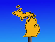 Michigan-Warnzeichen stock abbildung